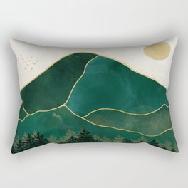 Mt Hood Emerald Mountain Abstract Rectangular Pillow
