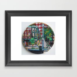 The Corner Of Market And Main Framed Art Print