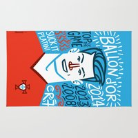 ronaldo Area & Throw Rugs featuring CR7 by hugraphic