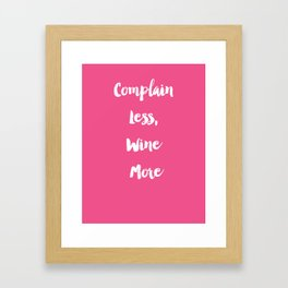 Wine O'clock Framed Art Print