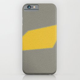 simple gray and yellow art iPhone Case