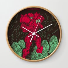 Metroids Wall Clock