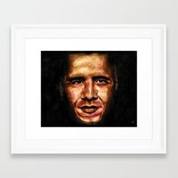 obama Framed Art Prints featuring Obama by Tetevi Teteh