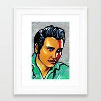 elvis Framed Art Prints featuring Elvis by Lina Caro Design