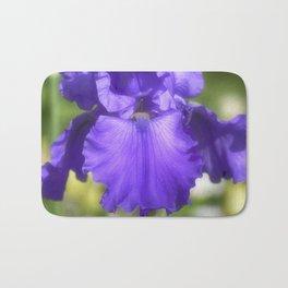 Purple Bearded Iris Bath Mat