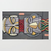totem Area & Throw Rugs featuring Totem by Sébastien BOUVIER