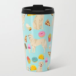 Golden Retriever donuts french fries ice cream pizzas funny dog gifts dog breeds Travel Mug