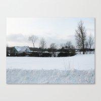 denmark Canvas Prints featuring Snow Denmark by Precious Art Print