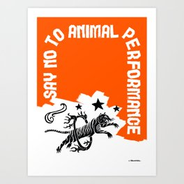 Say NO to Animal Performance – Tiger jump Art Print