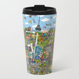 Illustrated map of Berlin Travel Mug