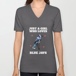 Blue Jay Girls Enthusiasts Unisex V-Neck