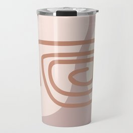 Abstract hand-drawn sketch the contours of modern contemporary boho elements isolated home wall decor simple. Travel Mug