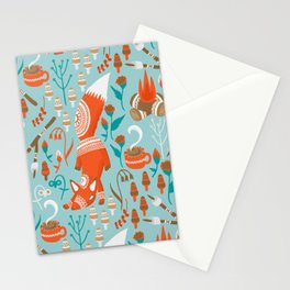 Campside Fox Stationery Cards