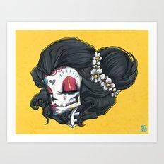 Madame Muerte PAINT Art Print