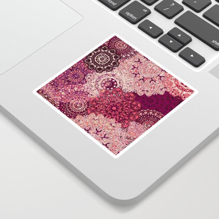 Terra Rose Mandalas Sticker