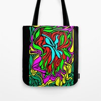 supreme Tote Bags featuring Lava Supreme by clawsalina