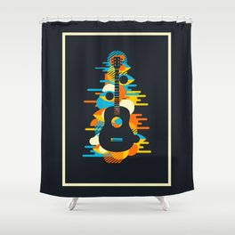 Psychedelic Music Shower Curtain