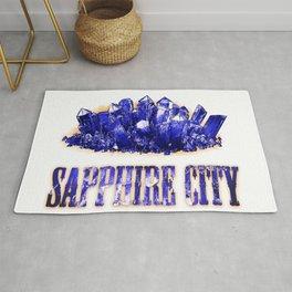 Peblarossia - Sapphire city Rug