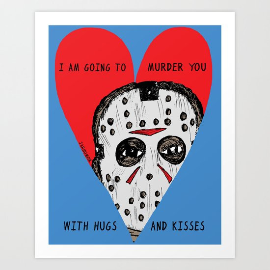 Murder Love Art Print