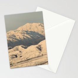 Winter Snow in the Mountains Stationery Cards