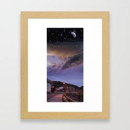 Day to Night Framed Art Print