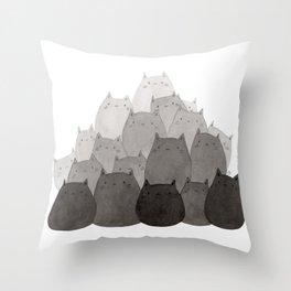 Kitty Pile Throw Pillow
