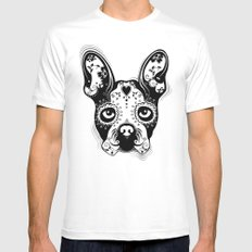 B.Terrier  White MEDIUM Mens Fitted Tee