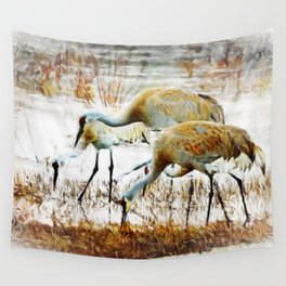 Sandhill Family Wall Tapestry