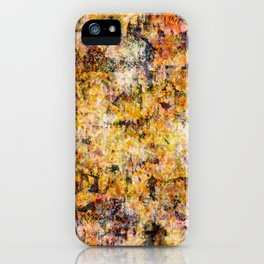 Urban Grunge Decay Texture Abstract Pattern Design , Rugged Mixed Media Modern Art Painting iPhone Case