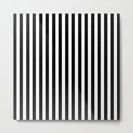 Vertical Striped (Black & White Pattern) Metal Print