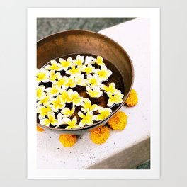 Bali yellow flowers Art Print