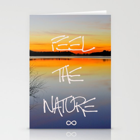 Feel the nature infinity ∞ Stationery Cards