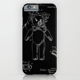 Teddy Bear Antique Patent Blueprint iPhone Case