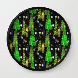 Christmas Snow Fall Wall Clock