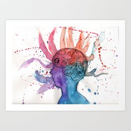 This Is Your Brain On Inspiration Art Print