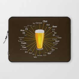 """""""Beer"""" in 45 different languages Laptop Sleeve"""