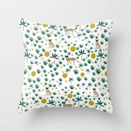 Sun Leopard Throw Pillow