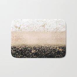 Elegant rose gold confetti marble design Bath Mat