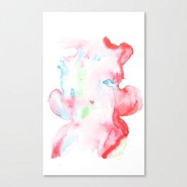 141203 Abstract Watercolor Block 75 Canvas Print