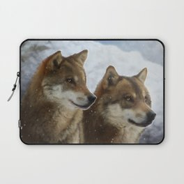 Twin Wolves Laptop Sleeve