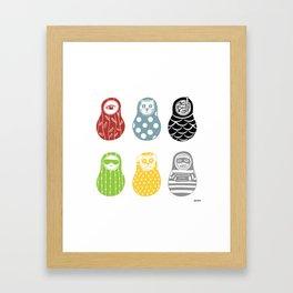 Whimsical Matrioshkas Framed Art Print