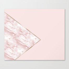 Blush pink geo - pink marble Canvas Print