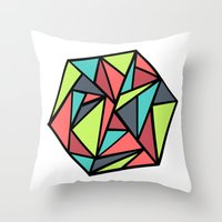 hexagon Throw Pillows featuring Hexagon by chrfahnestock