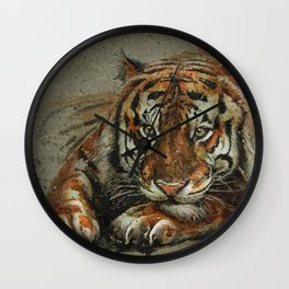 Tiger background Wall Clock