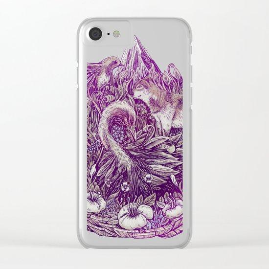 Peaceful Jungle Clear iPhone Case