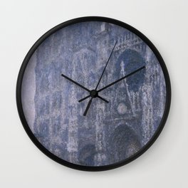 Claude Monet - Rouen Cathedral, Portal and Tower d'Albane, Cloudy Weather.jpg Wall Clock
