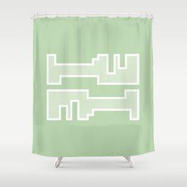 Green // Key Blade Shower Curtain