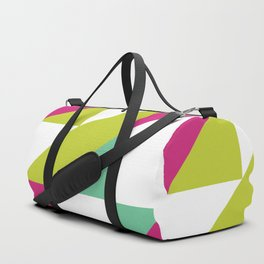 Hot Pink and Neon Chartreuse Color Block Duffle Bag