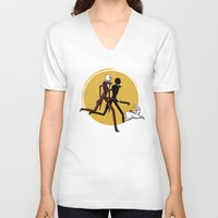 tintin V-neck T-shirts featuring Jack and zero by le.duc