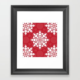 Valentine heart mandala, romantic and love Framed Art Print